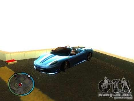 Ferrari F430 Scuderia M16 2008 for GTA San Andreas bottom view