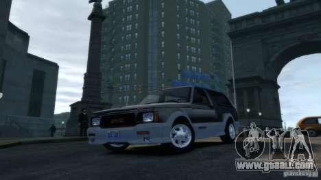 GMC Typhoon 1993 v1.0 for GTA 4 back view