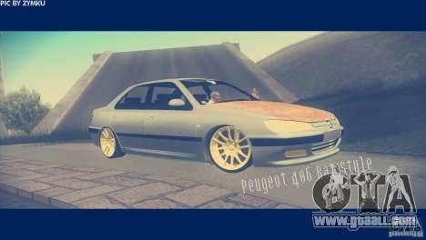 Peugeot 406 Rat Style for GTA San Andreas