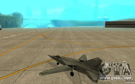 Mig-23 down the Flogger for GTA San Andreas right view