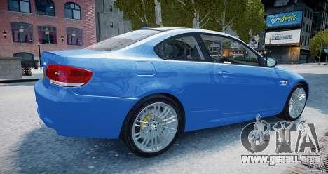 BMW M3 E92 2008 v.2.0 for GTA 4 left view