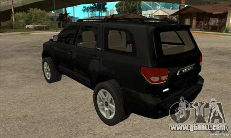 Toyota Sequoia for GTA San Andreas back left view