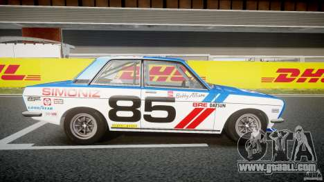 Datsun Bluebird 510 1971 BRE for GTA 4 back view