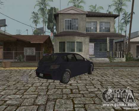 Mazda Speed 3 for GTA San Andreas back left view