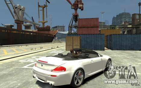 BMW M6 Convertible for GTA 4 right view
