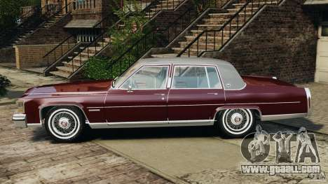 Cadillac Fleetwood Brougham Delegance 1986 for GTA 4 back left view