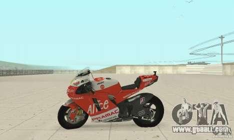 Ducati Alice GP for GTA San Andreas right view