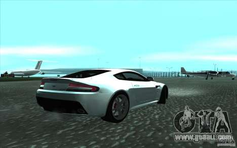 Aston Martin V12 Vantage for GTA San Andreas back view