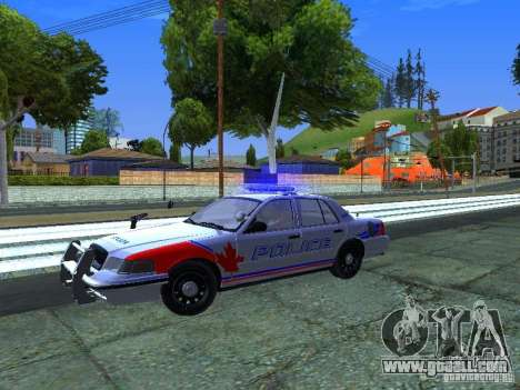 Ford Crown Victoria Police Patrol for GTA San Andreas back view