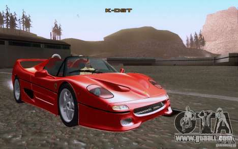 Ferrari F50 v1.0.0 1995 for GTA San Andreas side view