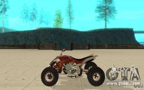 Yamaha YFZ 450 SuperCross Skin 2 for GTA San Andreas left view