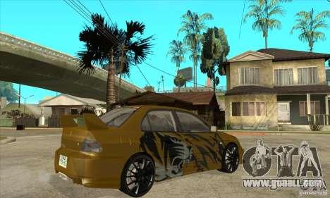 Mitsubishi Lancer Evolution VIII for GTA San Andreas right view