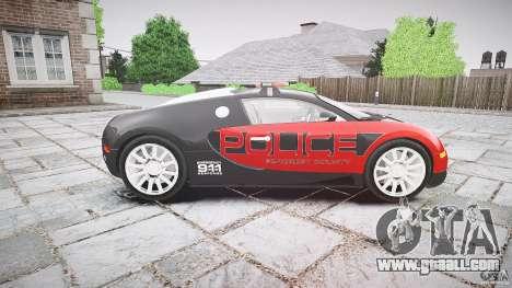 Bugatti Veyron 16.4 Police [EPM/ELS] for GTA 4 inner view