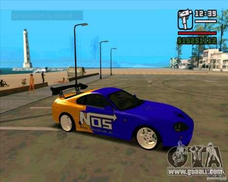 Toyota Supra Drift for GTA San Andreas left view