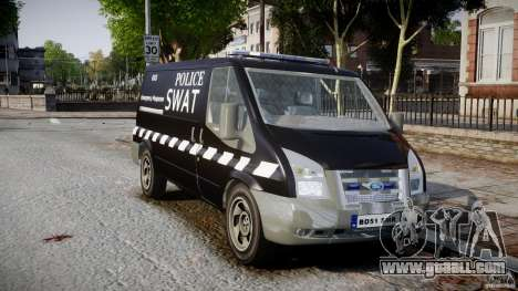 Ford Transit SWAT for GTA 4 right view