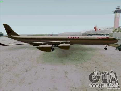 Airbus A-340-600 Quatar for GTA San Andreas left view