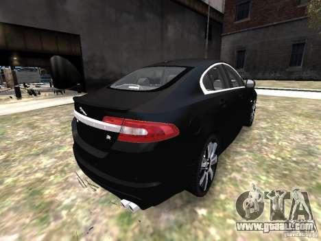 Jaguar XFR for GTA 4 back view