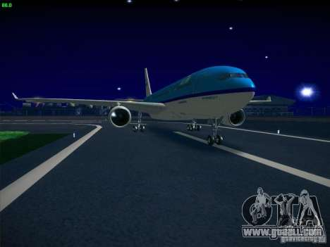 Airbus A330-200 KLM Royal Dutch Airlines for GTA San Andreas back left view