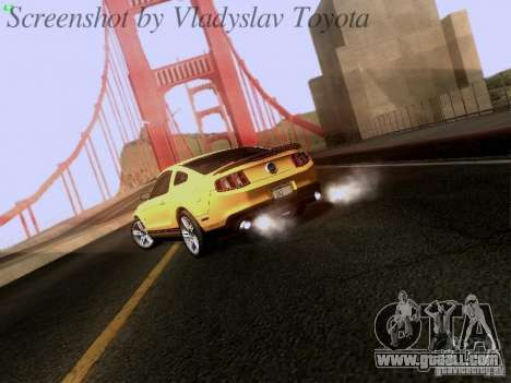 Ford Mustang GT 2011 for GTA San Andreas right view