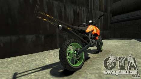Stunt Supermotard Sanchez for GTA 4 back left view