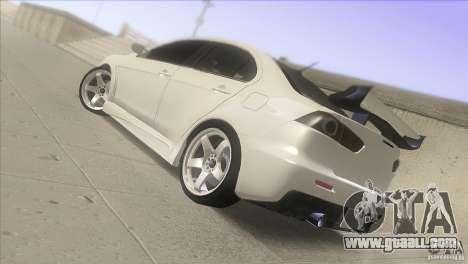 Mitsubishi Lancer Evo IX DIM for GTA San Andreas left view