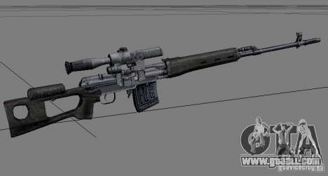 A set of weapons from stalker V2 for GTA San Andreas second screenshot