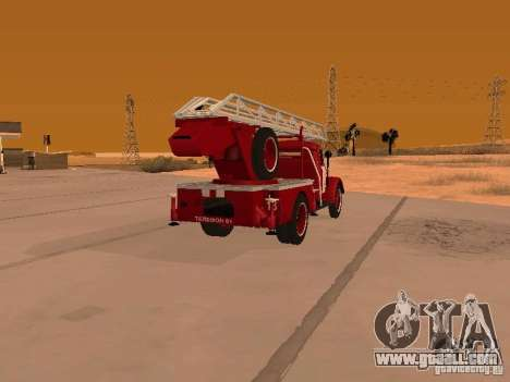 GAZ-51 ALG-17 for GTA San Andreas back left view