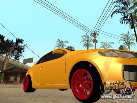 Kia Cerato Coupe JDM for GTA San Andreas back left view