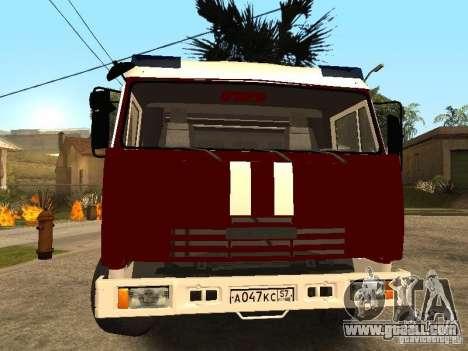KAMAZ 43253 Rozenbauer for GTA San Andreas right view