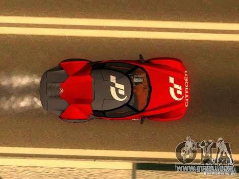 Citroen GT Gran Turismo for GTA San Andreas back view