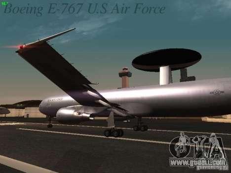 Boeing E-767 U.S Air Force for GTA San Andreas wheels