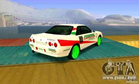 Nissan Skyline GT-R32 BadAss for GTA San Andreas left view