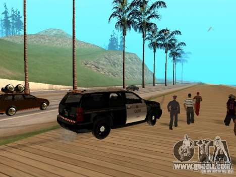Chevrolet Tahoe Ontario Highway Police for GTA San Andreas right view