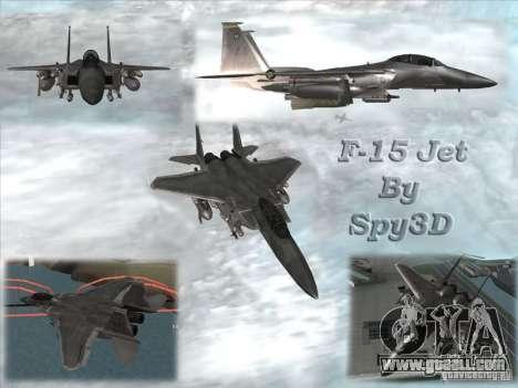 F-15 Eagle for GTA San Andreas