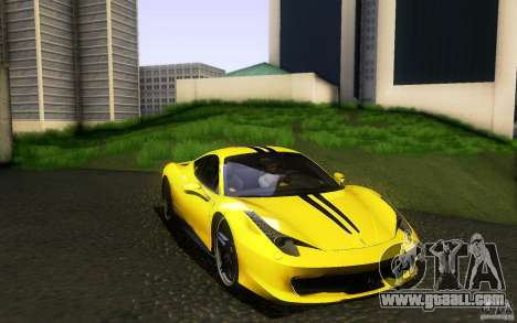 Ferrari 458 Italia Final for GTA San Andreas interior