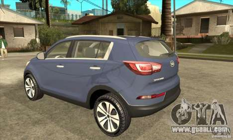 Kia Sportage 2011 HKV for GTA San Andreas back left view