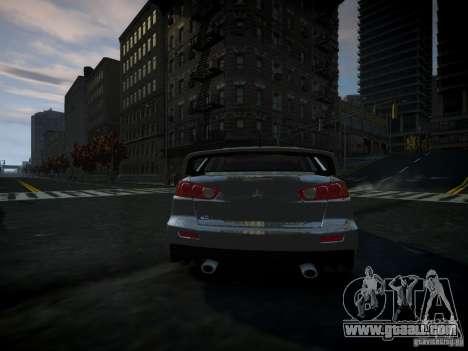 Mitsubishi Lancer Evolution X for GTA 4 back left view