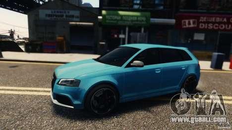 Audi RS3 Sportback V1.0 for GTA 4 left view