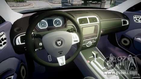 Jaguar XKR-S for GTA 4 back view