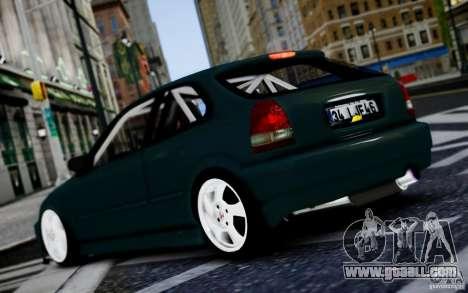 Honda Civic 1.4iES HB 1999 for GTA 4 right view