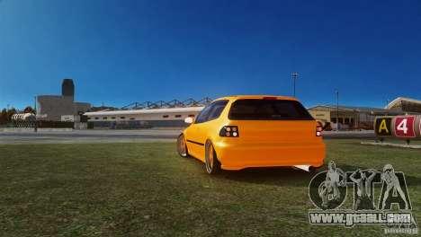 Honda Civic Tuned for GTA 4 back left view