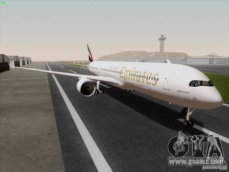Airbus A350-900 Emirates for GTA San Andreas right view