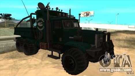 KrAZ 255 B1 Krazy-Crocodile for GTA San Andreas inner view