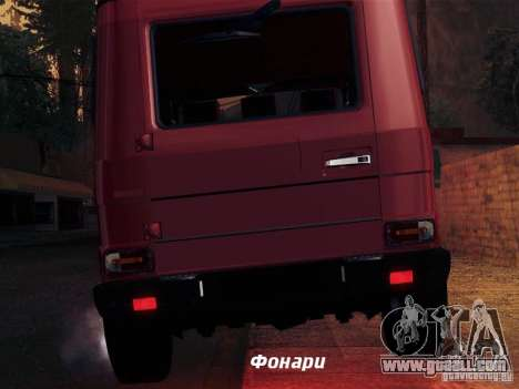 Mercedes-Benz G65 for GTA San Andreas bottom view