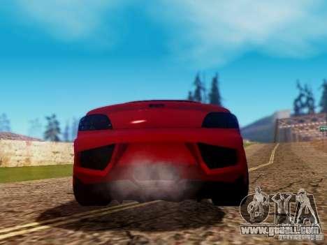 Mazda RX8 Reventon for GTA San Andreas upper view