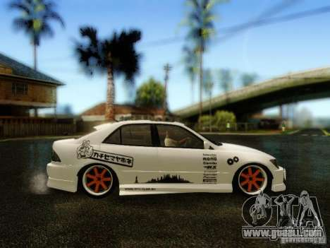 Lexus IS300 Jap style for GTA San Andreas right view
