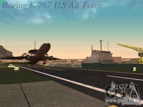Boeing E-767 U.S Air Force for GTA San Andreas interior