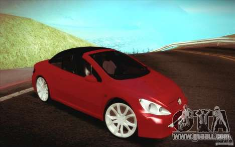 Peugeot 307CC BMS Edition for laptops for GTA San Andreas side view