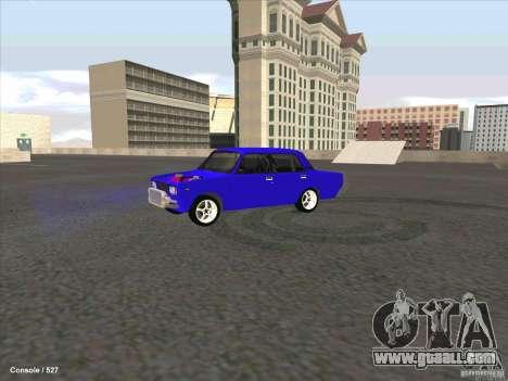 ВАЗ 2107 Drift for GTA San Andreas left view