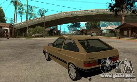VW Gol GL 1.8 1989 for GTA San Andreas back left view